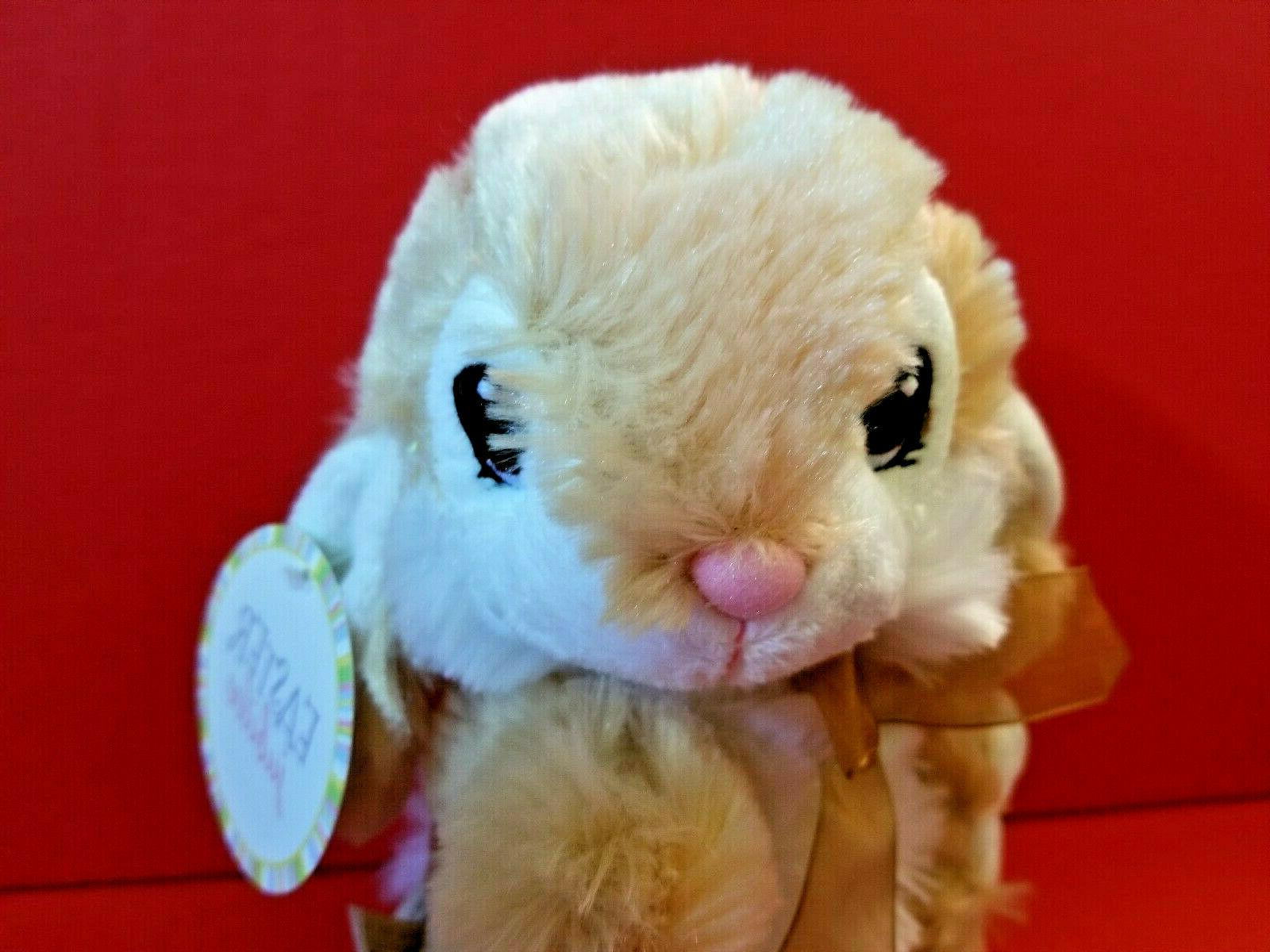 Tan Bunny Dan Holiday Rabbit Stuffed Soft New DanDee