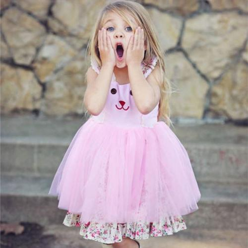 US Easter Bunny Dress Outfit Princess Tulle Sundress