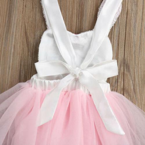 US 2019 Easter Newborn Baby Romper Tutu Dress Clothes