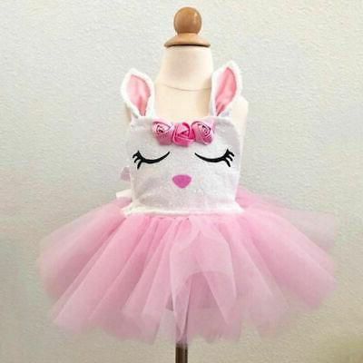 US Hot Newborn Baby Girl Bunny Tutu Dress Clothes Easter