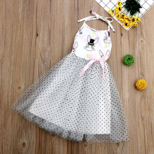 Summer Baby Girl Clothes Easter Bunny Dress Party Tutu Dress