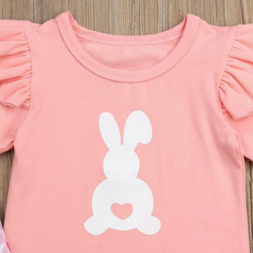 US2Pcs Baby Girl Bunny Clothes Set