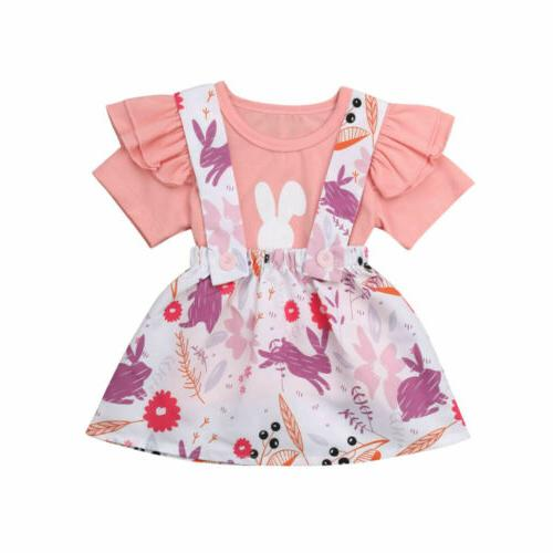 US2Pcs Girl Clothes Skirt Set