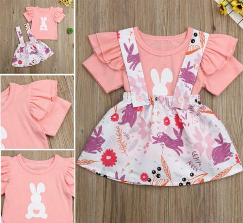 us2pcs newborn infant baby girl easter bunny