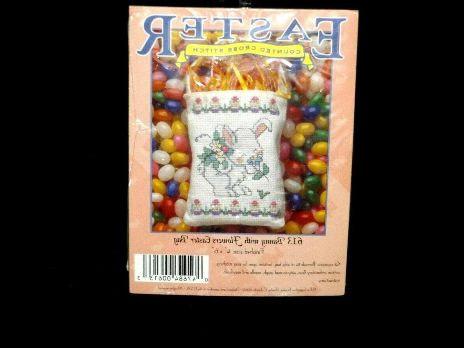Vintage Sugarplum SMELLING FLOWERS Mini Cross Stitch