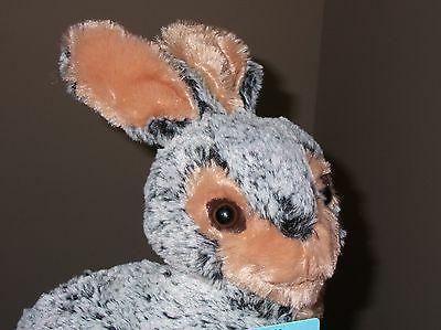 VTG Dan BUNNY RABBIT Grey Black Plush Animal Soft