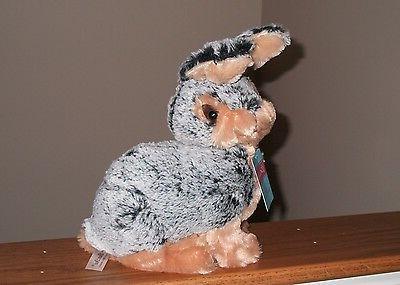 VTG EASTER BUNNY Black Stuffed Soft