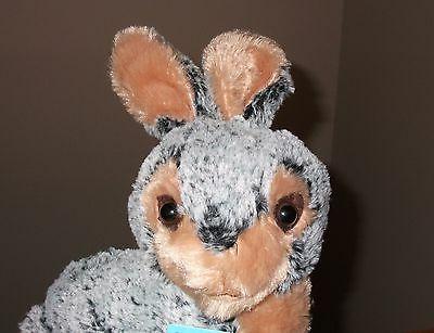 vtg easter bunny rabbit grey brown black