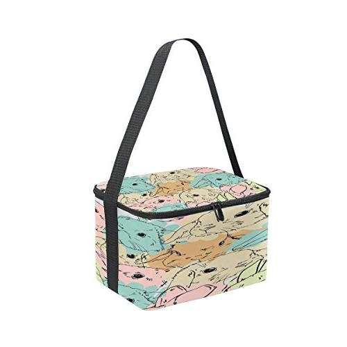 Use4 Rabbit Bunny Easter Insulated Lunch for Picnic Men Kids
