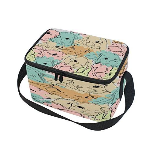 watercolor rabbit bunny easter insulated