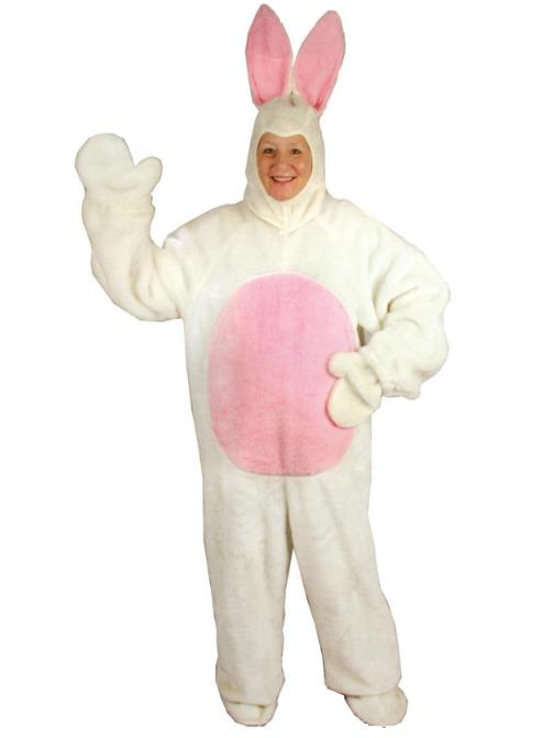 white easter bunny costume adult