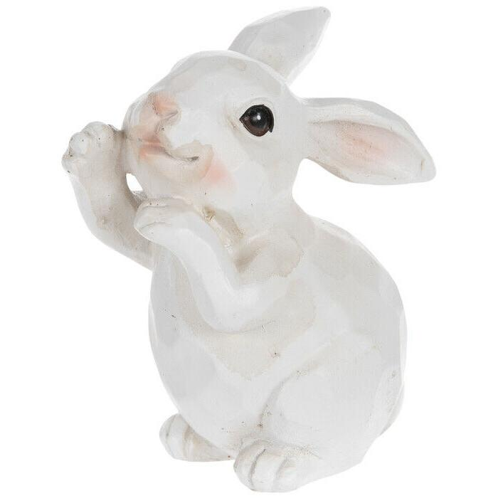 White Standing Bunny. Cute Easter Decor Statue.
