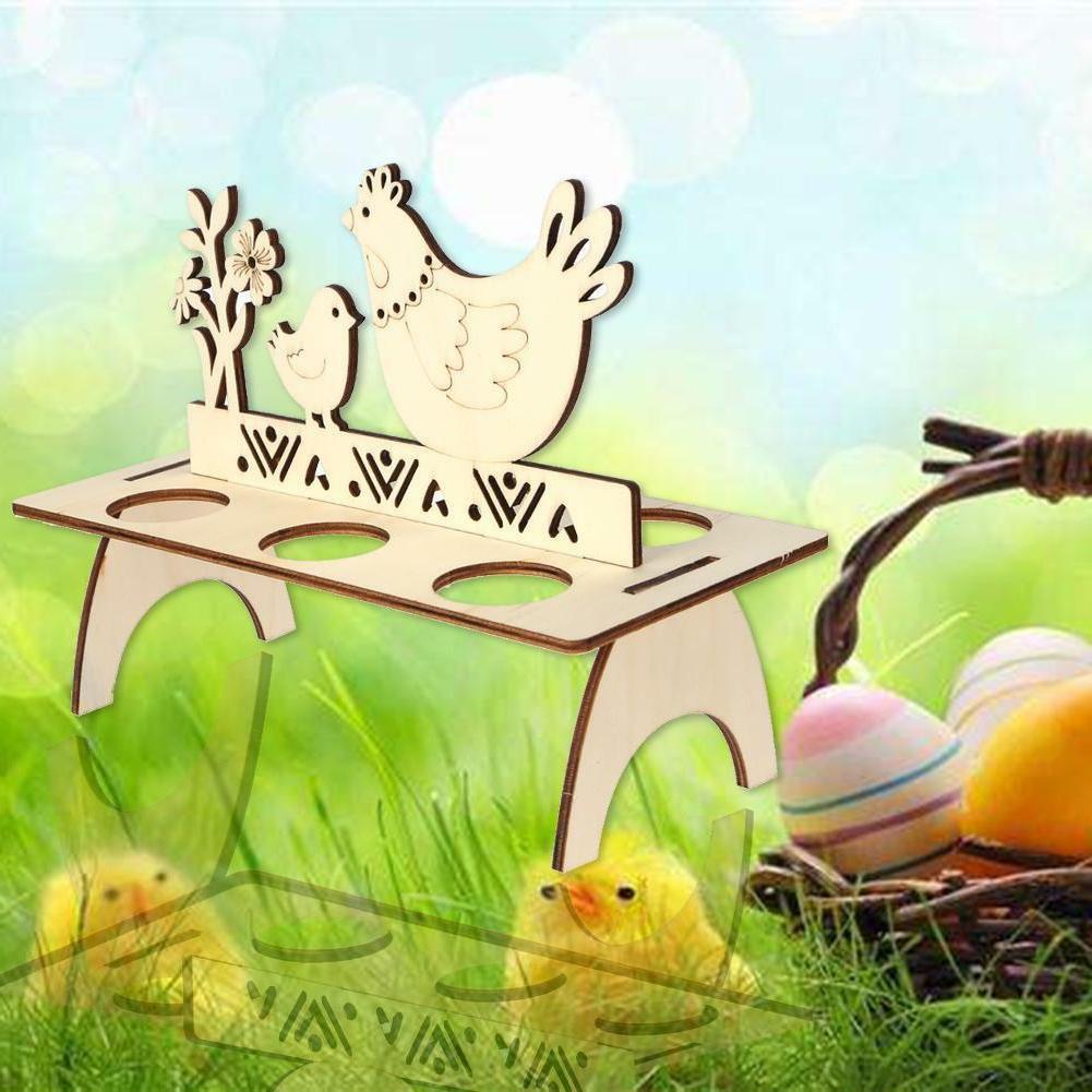 Wooden Stand Holder Hen Banny DIY Easter Decoration