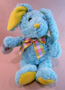 Lamb Plush Stuffed Animal Gray Ruffled Fur Plaid Bow Tie 13""