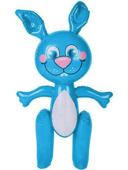 """Large 24"""" Inflatable Blue Easter Bunny Rabbit Holiday Party"""