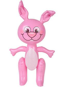 "Large 24"" Inflatable Pink Easter Bunny Rabbit Holiday Party"