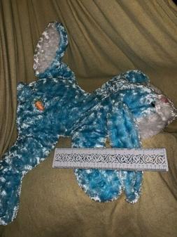 Dan Dee LG 2FT. Blue White Floppy Pillow Easter Bunny Rabbit
