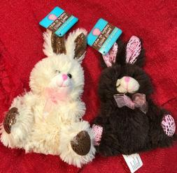 Lot Of 2 Soft Stuffed Plush Animal Chocolate Scented Easter
