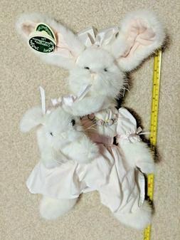 "Mandy & Marshmallow_White Rabbits 14"" Plush Easter Bunny_B"