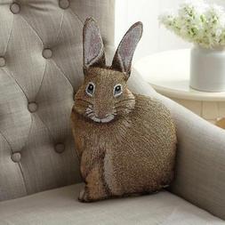 MWW Manual Bunny Hop Hare Raising Rabbit Shaped Pillow, 17.5