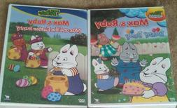 MAX & RUBY BUNNY PARTY, MAX AND THE EASTER BUNNY DVD'S - NEW