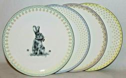 SPODE Meadow Lane Easter Bunny Rabbit Set of 4 Porcelain Sal