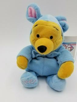 "Disney Mini Bean Bag Easter Bunny Pooh 8"""