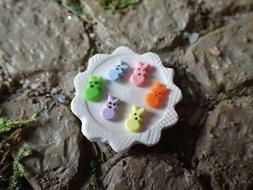 Miniature Chick Bunny Peeps for Dollhouse Fairy Garden, Mini
