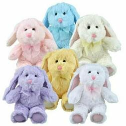 Greenbrier Multipack of 6 Floppy Eared Plush Bunny Animals