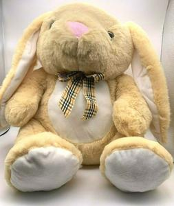 NEW Kellytoy 14 Inch Sitting Easter Tan Bunny Stuffed Plush