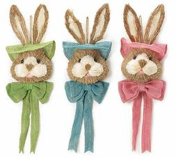 "New 25"" Sisal Easter Bunny Head Wall Hanging Wreath Supplies"