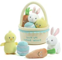 * NEW * Baby GUND - My First Easter Basket 5 Piece Soft Play