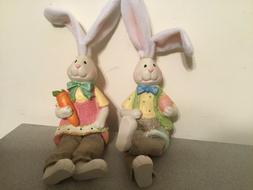 New Country Bunny Shelf Sitters Boy & Girl Farmhouse Country