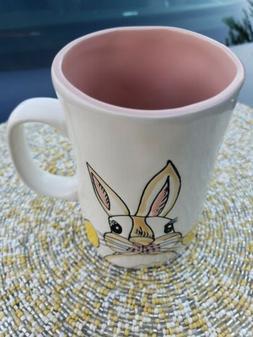 "NEW Spectrum Designz Easter Bunny Face Tall Coffee Mug 5"""