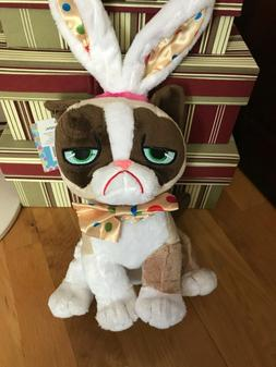NEW GRUMPY CAT Easter Basket Bunny PLUSH Stuffed Animal Rabb