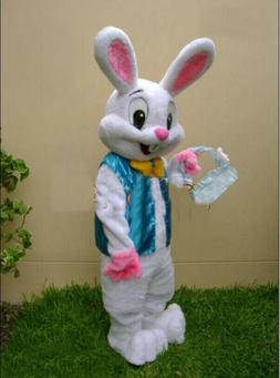 new Easter Bunny Deluxe Rabbit Mascot Suit Plush Dress Up Ad