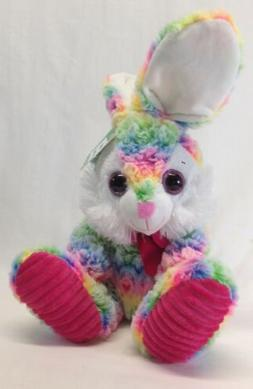 NEW EASTER BUNNY Plush multi colored stuffed rabbit, Midwood