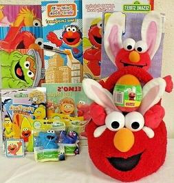 NEW ELMO EASTER TOY GIFT BASKET TOYS BUNNY TOYS FIGURE PLAY