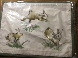 NEW Pottery Barn HOPPING Bunny Lumbar Pillow Cover  Easter R