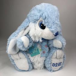 New Hoppy Hopster Easter Bunny 2020 Dan Dee Blue/White Fluff