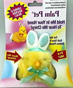 New In Package Dan Dee Easter Palm Pet Chirping Chick w/ Bun