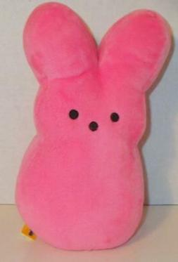"NEW LARGE PEEPS PINK BUNNY RABBIT 9"" BIG EASTER STUFFED PLUS"
