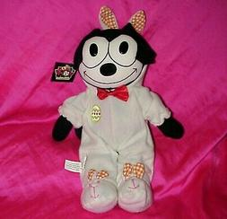 """NEW NWT 18"""" FELIX THE CAT IN EASTER BUNNY COSTUME PLUSH FIGU"""