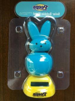 New PEEPS Easter Bunny Solar Bobble Head Dancer Collectible