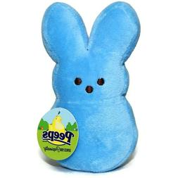 "New Peeps Plush 6"" Blue Bunny Rabbit Stuffed Animal Easter W"