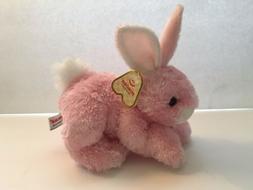 "NEW Aurora Plush Rabbit - Mini Flopsie- Pink Easter Bunny 8"""