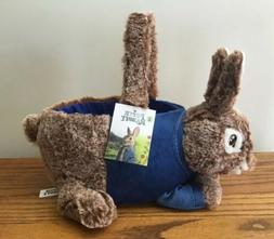 NEW RARE Peter Rabbit Easter BASKET  Bunny SOFT Plush Tote D