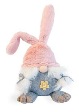 New Spring PINK GIRL EASTER BUNNY GNOME DOLL Rabbit Ears Fee