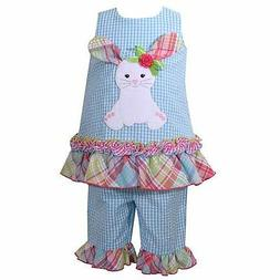 New Toddler Girl Bonnie Jean Seersucker EASTER Bunny Tunic C