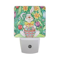 ALAZA LED Night Light with Smart Dusk to Dawn Sensor,Easter